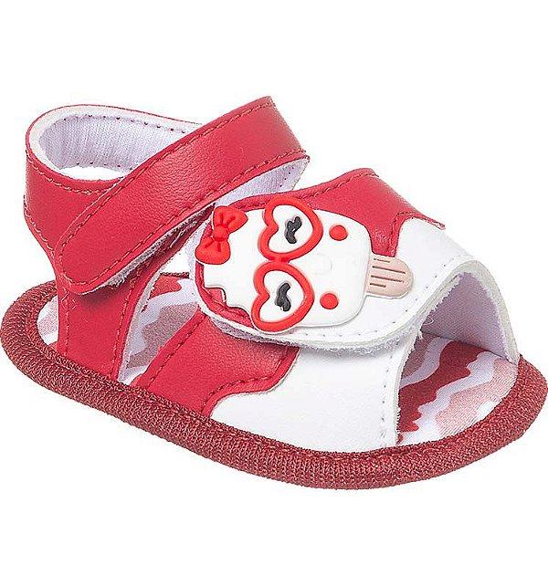Sandália Bebê Sorvete Candy Colors Vermelho