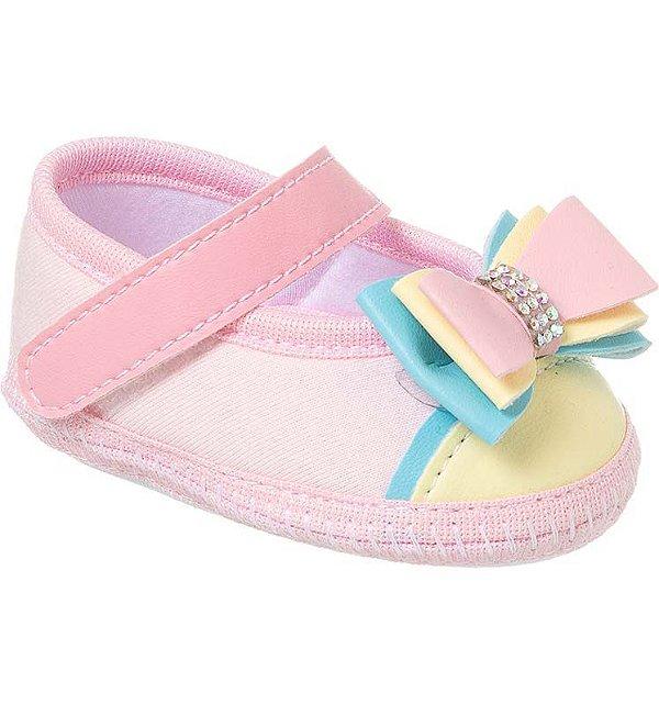 Sapatilha Bebê Laço Candy Colors