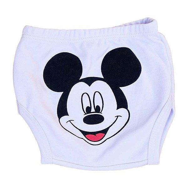 Tapa Fralda Malha Mickey Branco