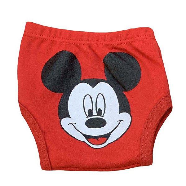 Tapa Fralda Malha Mickey Vermelho
