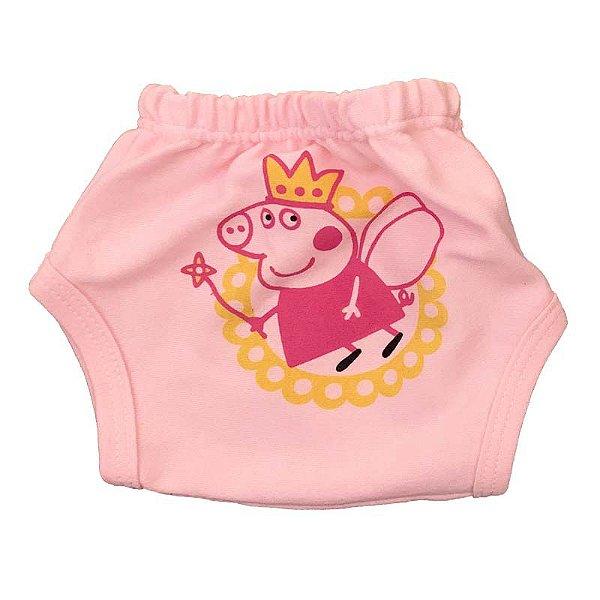 Tapa Fralda Malha Peppa Pig Fada