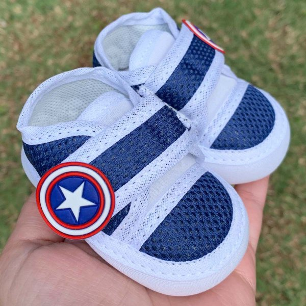 Tênis Bebê Azul Capitão América