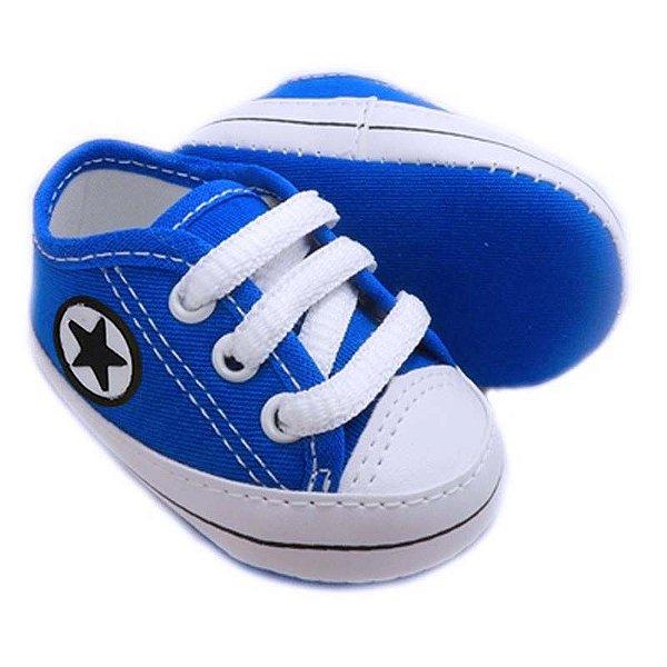 Tênis Bebê Estrelinha Azul Royal