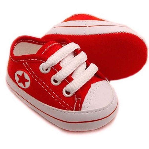 Tênis Bebê Estrelinha Vermelho