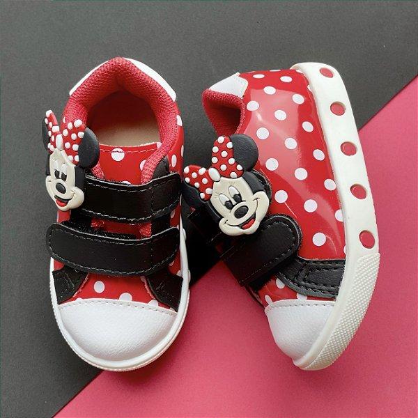 Tênis Bebê Bolinhas Minnie