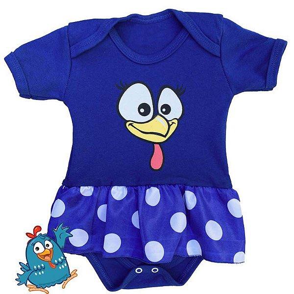 Body Vestido Bebê Galinha Pintadinha
