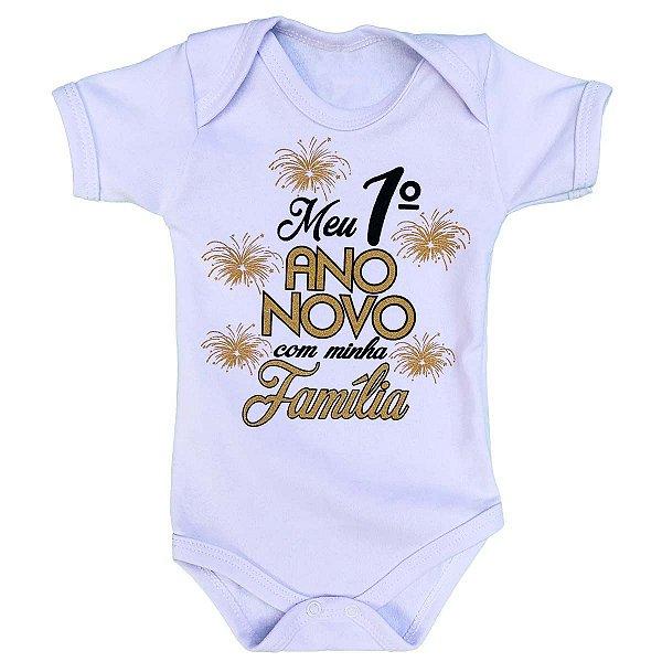 Body Bebê Meu Primeiro Ano Novo