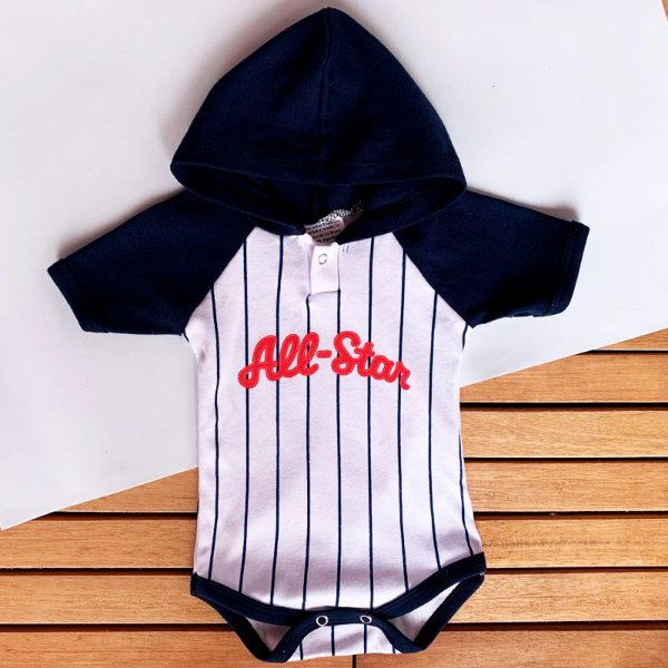 Body Bebê com Touca Beisebol All Star