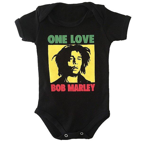 Body Bebê One Love Bob Marley