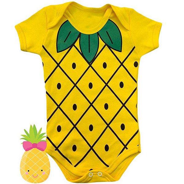 Body Bebê Frutinhas Abacaxi