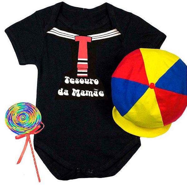 Kit Body Bebê Kiko Tesouro da Mamãe com Pirulito e Boina