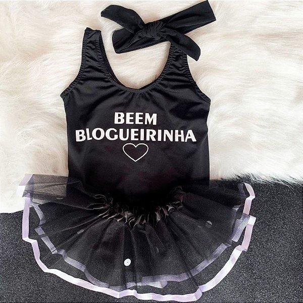 Kit Body Bebê Luxo Tule Beem Blogueirinha Preto