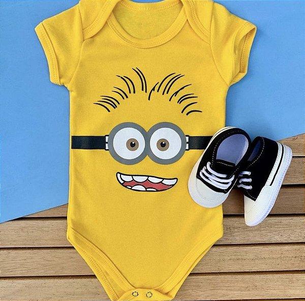 Kit Body Bebê Minions e Tênis Basic Preto