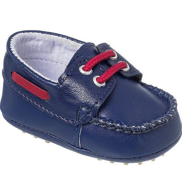 Mocassim Bebê Azul Marinho