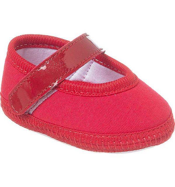 Sapatilha Bebê Basic Vermelha