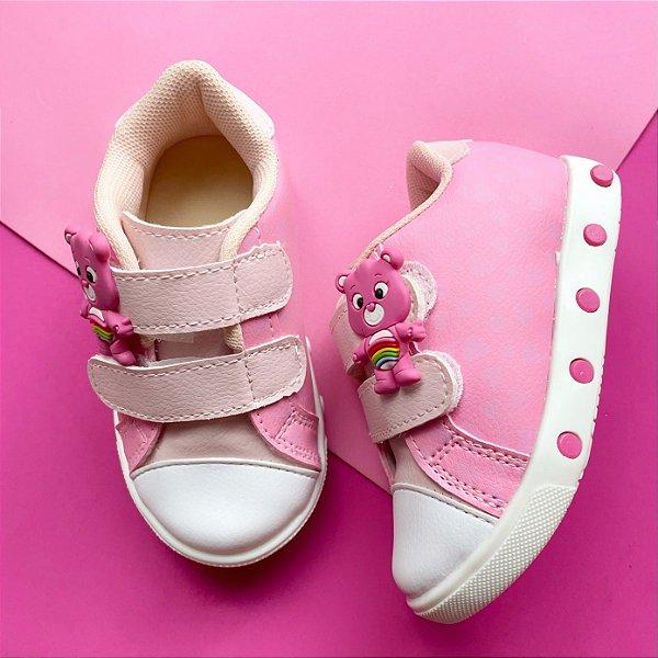 Tênis Bebê Ursinhos Carinhosos Rosa