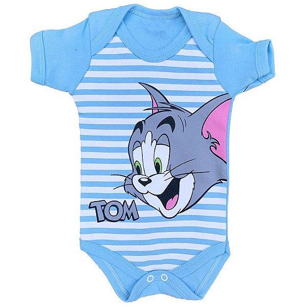 Body Bebê Tom & Jerry Azul