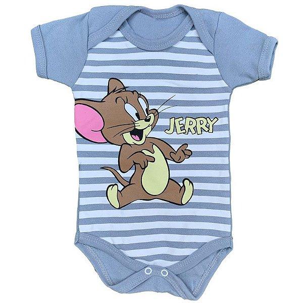 Body Bebê Tom & Jerry Cinza