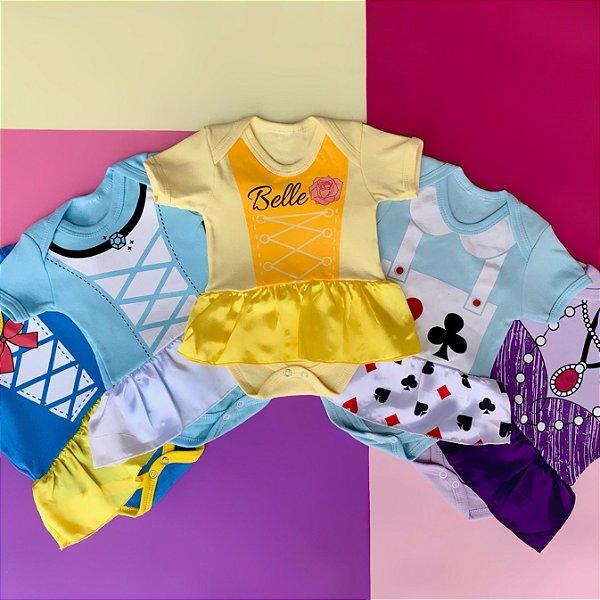 Kit Body Vestido Bebê Princesas