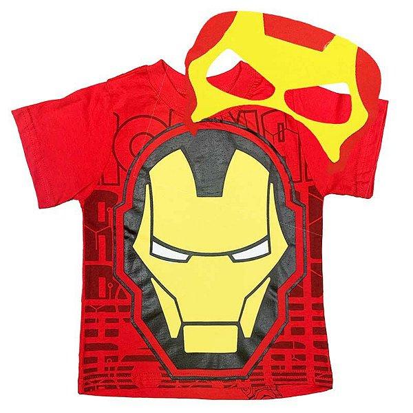 Kit Camiseta Infantil Homem de Ferro com Máscara