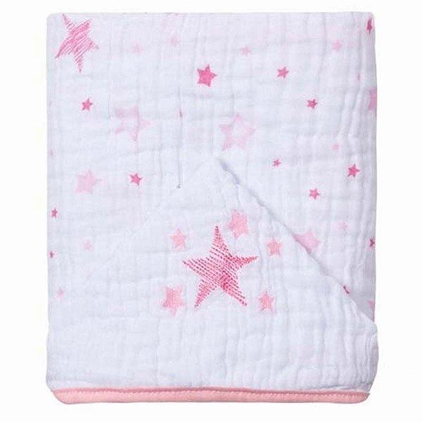 Toalha de Banho com Capuz Soft Rosa Celeste