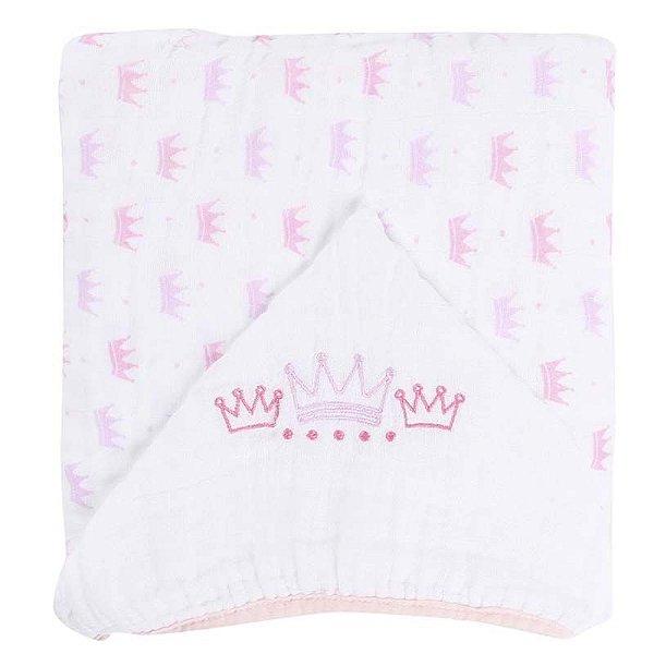 Toalha de Banho com Capuz Soft Rosa Princesa
