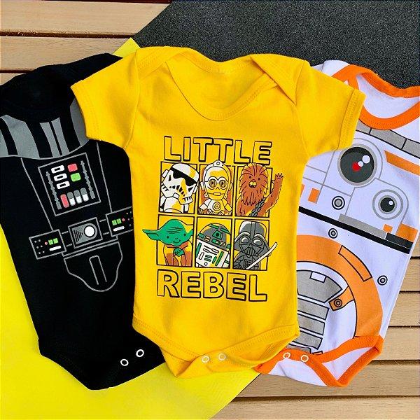 Kit Body Bebê Star Wars