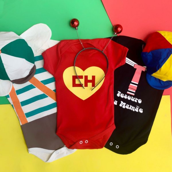 Kit Body Bebê Chaves, Chapolin Colorado e Kiko