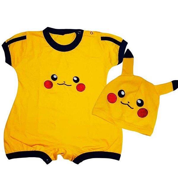 Macaquinho Bebê Pikachu com Touquinha