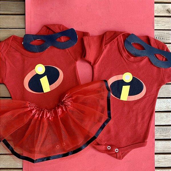 Kit Body Bebê Gêmeos Os Incriveis