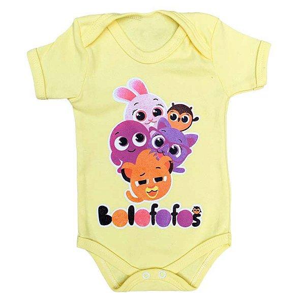 Body Bebê Bolofofos Amarelo