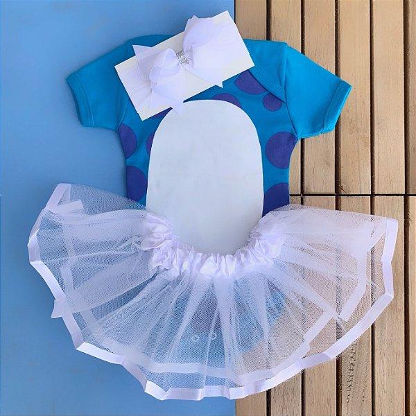 Kit Body Bebê Luxo Tule Monstros SA Sulley Menina