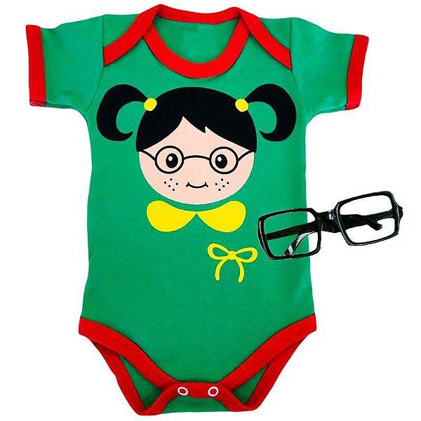 Kit Body Bebê Chiquinha Rostinho com Óculos