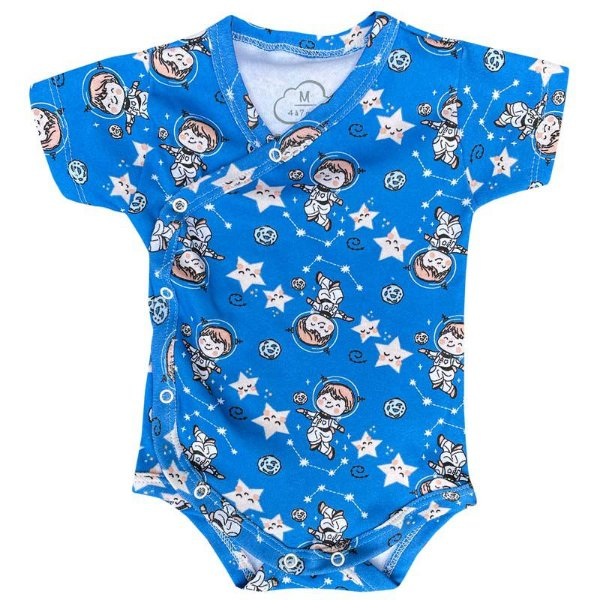 Body Bebê Kimono Manga Curta Astronauta