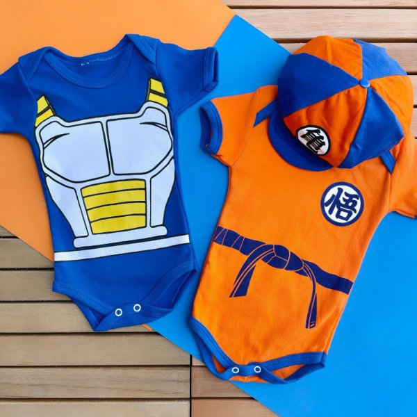 Kit Body Bebê Gêmeos Dragon Ball Z Goku & Vegeta