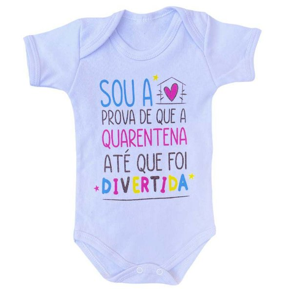 Body Bebê Quarentena Divertida