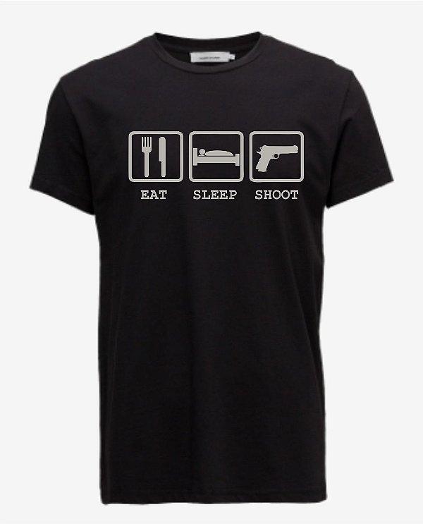Camiseta Eat - Sleep - Shoot