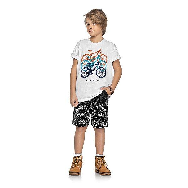 Conjunto Ride a Bike - Branco e Preto