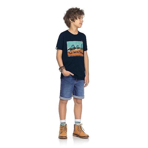 Camiseta Orange and Teal - Navy