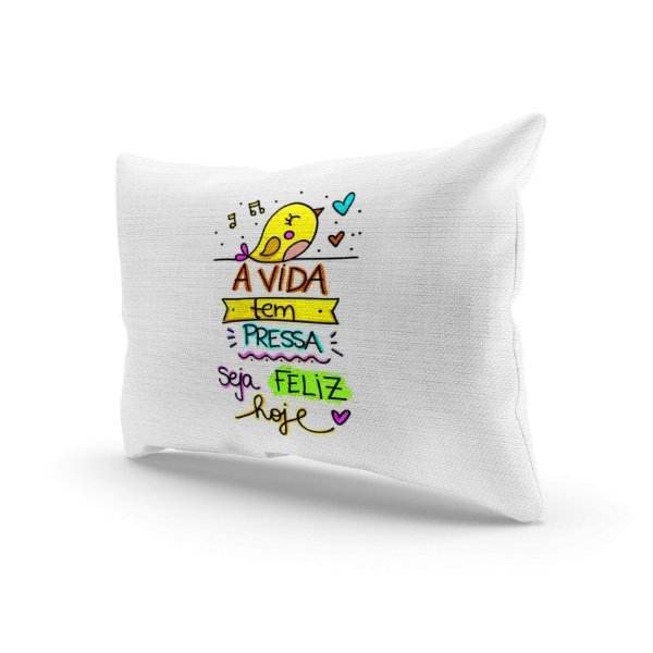 Almofada Decorativa - A vida feliz