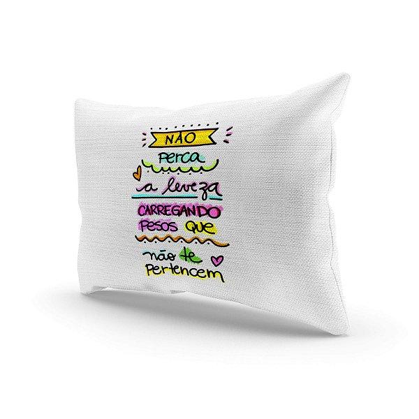 Almofada Decorativa - Não perca a leveza