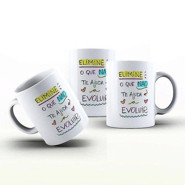 Caneca Personalizada Frases  - Ajuda a evoluir