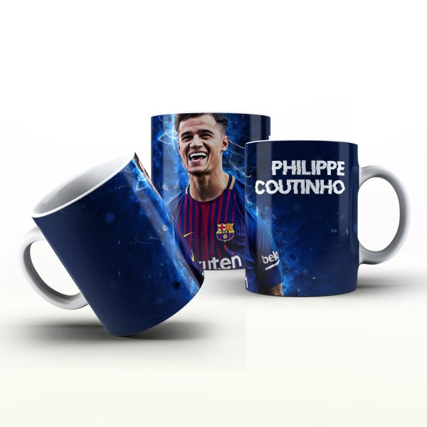 Caneca Personalizada Futebol  - Philippe Coutinho