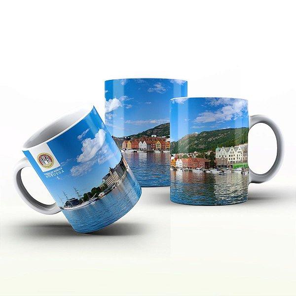 Caneca Personalizada Lugares   - Porto de Bergen