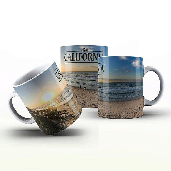 Caneca Personalizada Lugares - Praia de Califórnia