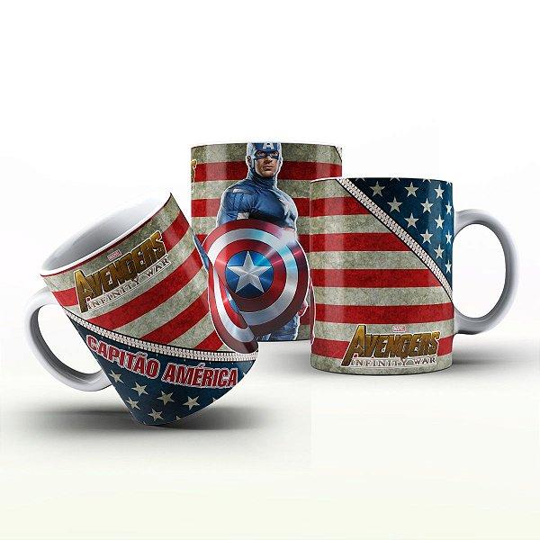 Caneca Personalizada Heróis  -  Capitão América  infinity