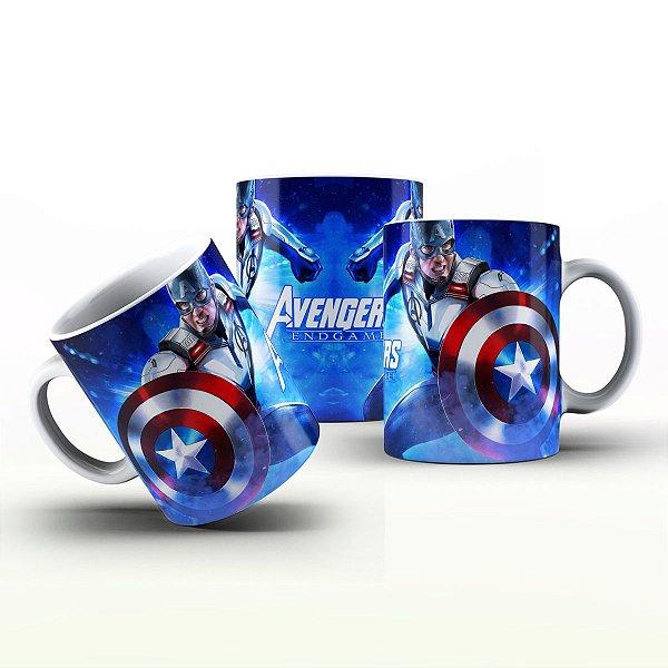 Caneca Personalizada Heróis  - Capitão América espelhado