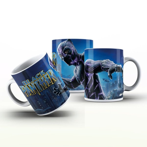 Caneca Personalizada Heróis  - Black Panther