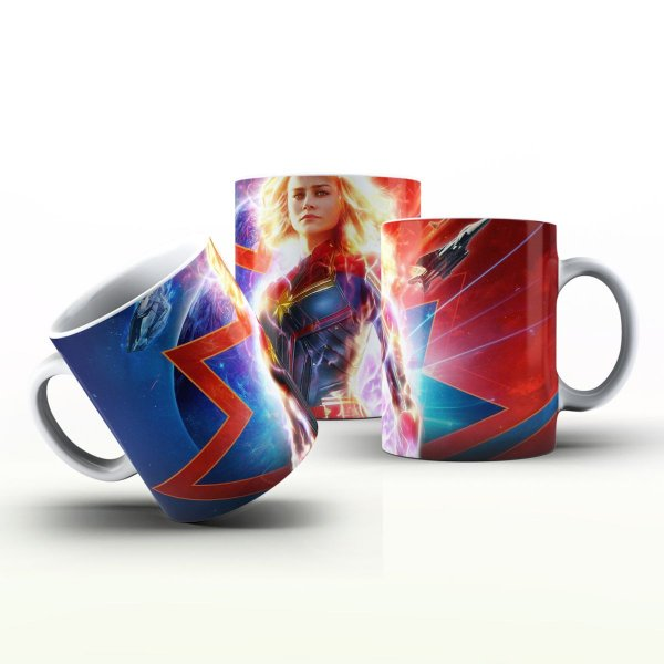 Caneca Personalizada Heróis  - Capitã Marvel