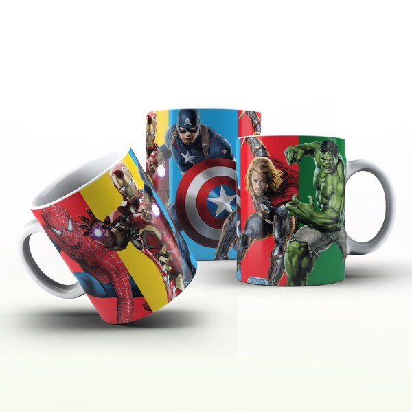 Caneca Personalizada Heróis  - Super Heróis  DC
